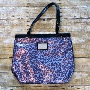 Betseyville Blue Sequin Leopard Print Tote